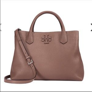 NWT Tory Burch Mcgraw Triple-Compartment Satchel